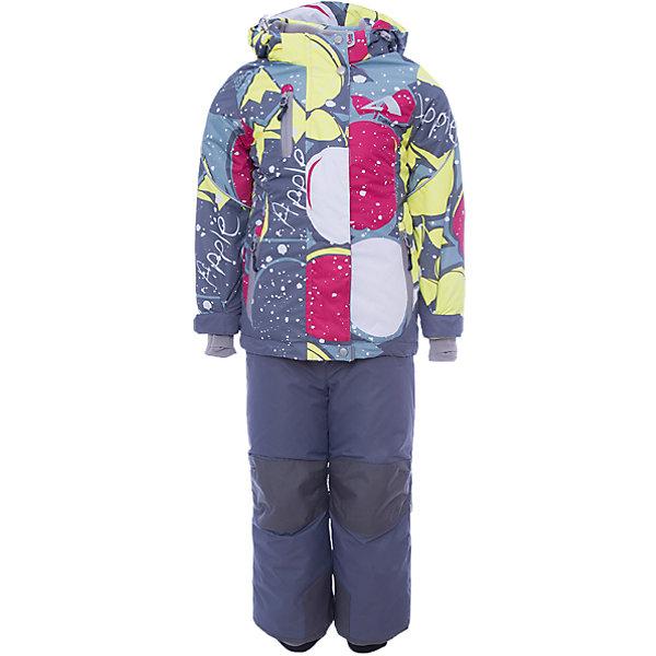 Комплект: куртка и полукомбинезон Лора OLDOS ACTIVE для девочкиВерхняя одежда<br>Характеристики товара:<br><br>• цвет: серый<br>• комплектация: куртка и полукомбинезон<br>• состав ткани: полиэстер, Teflon<br>• подкладка: флис<br>• утеплитель: Hollofan pro<br>• сезон: зима<br>• мембрана<br>• температурный режим: от -30 до +5<br>• водонепроницаемость: 5000 мм <br>• паропроницаемость: 5000 г/м2<br>• плотность утеплителя: куртка - 200 г/м2, полукомбинезон - 150 г/м2<br>• застежка: молния<br>• капюшон: без меха, съемный<br>• полукомбинезон усилен износостойкими вставками<br>• страна бренда: Россия<br>• страна изготовитель: Россия<br><br>Подкладка детского зимнего комплекта - флис, в рукавах и брючинах – гладкий полиэстер. Детский комплект для девочки дополнен элементами, помогающими скорректировать размер точно под ребенка. Детский зимний комплект создан с применением мембранной технологии, поэтому рассчитан даже на сильные морозы и ветра.<br><br>Внешнее покрытие TEFLON - защита от воды и грязи, износостойкость, за изделием легко ухаживать. Мембрана 5000/5000 обеспечивает водонепроницаемость, одежда дышит. Гипоаллергенный утеплитель HOLLOFAN PRO  200/150 г/м2 - эффективно удерживает тепло и дарит свободу движения. Подкладка - флис, в рукавах и брючинах – гладкий полиэстер. <br><br>Карманы на молнии, внутренний карман с нашивкой-потеряшкой. Полукомбинезон приталенный. Костюм имеет светоотражающие элементы. Изделие прекрасно защитит от ветра и снега, т.к. имеет ряд особенностей. В куртке: съемный капюшон с регулировкой объема, воротник-стойка, ветрозащитные планки, снего-ветрозащитная юбка. <br><br>Манжеты на рукавах регулируются по ширине, есть эластичные манжеты с отверстием для большого пальца. Низ куртки регулируется по ширине. В полукомбинезоне: широкие эластичные регулируемые подтяжки, карманы, усиления в местах износа, снего-ветрозащитные муфты.<br><br>Комплект: куртка и полукомбинезон Лора Oldos (Олдос) для девочки можно купить в нашем интернет-магазине.<br>Ширина 