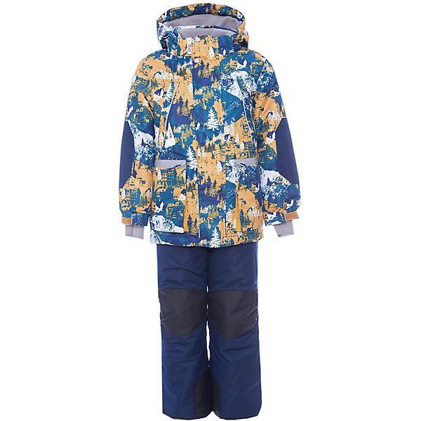 Комплект: куртка и полукомбинезон Коналл OLDOS ACTIVE для мальчикаВерхняя одежда<br>Характеристики товара:<br><br>• цвет: оранжевый<br>• комплектация: куртка и полукомбинезон<br>• состав ткани: полиэстер, Teflon<br>• подкладка: флис<br>• утеплитель: Hollofan pro<br>• сезон: зима<br>• мембрана<br>• температурный режим: от -30 до +5<br>• водонепроницаемость: 5000 мм <br>• паропроницаемость: 5000 г/м2<br>• плотность утеплителя: куртка - 200 г/м2, полукомбинезон - 150 г/м2<br>• застежка: молния<br>• капюшон: без меха, съемный<br>• полукомбинезон усилен износостойкими вставками<br>• страна бренда: Россия<br>• страна изготовитель: Россия<br><br>Этот зимний комплект создан специально для мальчиков. Стильный комплект для ребенка имеет регулируемые детали для удобства ребенка. Зимний детский комплект состоит из куртки и полукомбинезона. Мембранный верх комплекта для мальчика создает комфортный для ребенка микроклимат. <br><br>Внешнее покрытие TEFLON - защита от воды и грязи, износостойкость, за изделием легко ухаживать. Мембрана 5000/5000 обеспечивает водонепроницаемость, одежда дышит. Гипоаллергенный утеплитель HOLLOFAN PRO  200/150 г/м2 - эффективно удерживает тепло и дарит свободу движения. Подкладка - флис, в рукавах и брючинах – гладкий полиэстер. <br><br>Карманы на молнии, внутренний карман с нашивкой-потеряшкой. Полукомбинезон приталенный. Костюм имеет светоотражающие элементы. Изделие прекрасно защитит от ветра и снега, т.к. имеет ряд особенностей. В куртке: съемный капюшон с регулировкой объема, воротник-стойка, ветрозащитные планки, снего-ветрозащитная юбка. <br><br>Манжеты на рукавах регулируются по ширине, есть эластичные манжеты с отверстием для большого пальца. Низ куртки регулируется по ширине. В полукомбинезоне: широкие эластичные регулируемые подтяжки, карманы, усиления в местах износа, снего-ветрозащитные муфты.<br><br>Комплект: куртка и полукомбинезон Коналл Oldos (Олдос) для мальчика можно купить в нашем интернет-магазине.<br>Ширина мм: 356; Глубина мм: 1