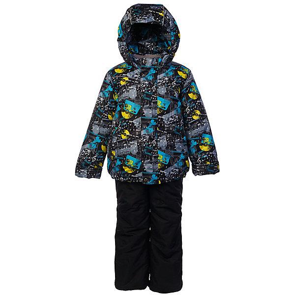 Комплект: куртка и полукомбинезон Джаз JICCO BY OLDOS для мальчикаВерхняя одежда<br>Характеристики товара:<br><br>• цвет: черный<br>• комплектация: куртка и полукомбинезон<br>• состав ткани: полиэстер<br>• подкладка: флис<br>• утеплитель: Hollofan <br>• сезон: зима<br>• температурный режим: от -30 до 0<br>• плотность утеплителя: куртка - 300 г/м2, полукомбинезон - 150 г/м2<br>• застежка: молния<br>• капюшон: без меха, несъемный<br>• страна бренда: Россия<br>• страна изготовитель: Россия<br><br>Внешняя ткань с водо-грязеотталкивающей пропиткой защитит от непогоды. Гипоаллергенный утеплитель нового поколения HOLLOFAN плотностью 300/150 г/м2 сохраняет тепло и быстро сохнет. Подкладка-флис, в рукавах и брючинах - гладкий полиэстер. Капюшон слитный, карманы на молнии. <br><br>Изделие прекрасно защитит от ветра и мороза, т.к. имеет ряд особенностей: воротник-стойка с флисовой вставкой, двойная ветрозащитная планка с защитой подбородка. Рукава с отворотом и внутренней трикотажной саморегулирующейся манжетой. Полукомбинезон с широкими эластичными регулируемыми по длине подтяжками, по талии вставлена резинка для прилегания. Изделие имеет светоотражающие элементы.<br><br>Комплект: куртка и полукомбинезон Джаз Oldos (Олдос) для мальчика можно купить в нашем интернет-магазине.<br>Ширина мм: 356; Глубина мм: 10; Высота мм: 245; Вес г: 519; Цвет: черный; Возраст от месяцев: 18; Возраст до месяцев: 24; Пол: Мужской; Возраст: Детский; Размер: 92,134,128,122,116,110,104,98; SKU: 7016533;