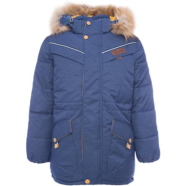 Куртка Жан OLDOS для мальчикаВерхняя одежда<br>Характеристики товара:<br><br>• цвет: синий<br>• состав ткани: 100% полиэстер, пропитка PU, Teflon<br>• подкладка: флис, полиэстер<br>• утеплитель: искусственный лебяжий пух<br>• сезон: зима<br>• температурный режим: от -35 до 0<br>• застежка: молния<br>• капюшон: с мехом, съемный<br>• страна бренда: Россия<br>• страна изготовитель: Россия<br><br>Зимняя куртка для ребенка дополнена функциональными элементами, помогающими надежно защитить ребенка от снега и холода. Теплая куртка для ребенка обеспечит тепло и комфорт в холода благодаря качественному утеплителю и пропитке от воды и грязи. Эту детскую куртку легко чистить. <br><br>Внешнее покрытие TEFLON - защита от воды и грязи, за изделием легко ухаживать. Современный утеплитель - лебяжий пух искусственный: легкий, как натуральный, отлично сохраняет тепло, не впитывает влагу, сохраняет и быстро восстанавливает объем, гипоаллергенен. Подкладка – флис, в рукавах - гладкий полиэстер. <br><br>Капюшон съемный, с регулировкой объема, опушка отстегивается. Воротник-стойка, двойная ветрозащитная планка с защитой подбородка, внутренние саморегулирующиеся трикотажные манжеты надежно защитят от непогоды. Есть регулируемая утяжка по талии, нашивка-потеряшка на подкладке, светоотражающие элементы.<br><br>Куртку Жан Oldos (Олдос) для мальчика можно купить в нашем интернет-магазине.<br>Ширина мм: 356; Глубина мм: 10; Высота мм: 245; Вес г: 519; Цвет: синий; Возраст от месяцев: 72; Возраст до месяцев: 84; Пол: Мужской; Возраст: Детский; Размер: 146,140,134,128,122,158,152; SKU: 7016590;