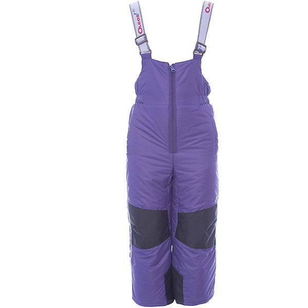 Полукомбинезон Зима OLDOS для девочкиВерхняя одежда<br>Характеристики товара:<br><br>• цвет: фиолетовый<br>• состав ткани: 100% полиэстер, пропитка PU, Teflon<br>• подкладка: полиэстер<br>• утеплитель: Hollofan 200 г/м2<br>• сезон: зима<br>• температурный режим: от -35 до 0<br>• застежка: молния<br>• усиление брючин износостойкой тканью<br>• страна бренда: Россия<br>• страна изготовитель: Россия<br><br>Зимний полукомбинезон для ребенка дополнен мягкой резинкой на талии. Верх этого детского полукомбинезона - с пропиткой от грязи и влаги. Теплый детский полукомбинезон снабжен застежкой молнией и удобными регулируемыми лямками. Гладкая подкладка детского полукомбинезона позволяет легко его надевать и снимать. <br><br>Полукомбинезон Зима Oldos (Олдос) для девочки можно купить в нашем интернет-магазине.