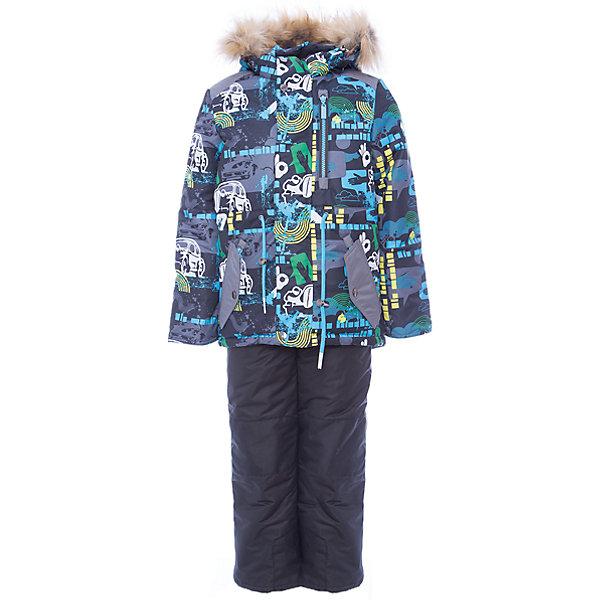 Комплект Oldos Active Лазер: куртка и полукомбинезонКомплекты<br>Характеристики товара:<br><br>• комплектация: куртка и полукомбинезон<br>• состав ткани: 100% полиэстер, пропитка PU, Teflon<br>• подкладка: хлопок, полиэстер<br>• утеплитель: Hollofan 250/200 г/м2<br>• подстежка: 60% шерсть, 40% полиэстер<br>• сезон: зима<br>• температурный режим: от 0 до -35<br>• застежка: молния<br>• капюшон: с мехом, съемный<br>• подстежка в комплекте<br>• страна бренда: Россия<br><br>Подкладка зимнего комплекта комбинированная: хлопок и полиэстер. Зимний костюм для мальчика дополнен элементами, помогающими скорректировать размер точно под ребенка. Теплый комплект для мальчика отлично подходит для суровой русской зимы благодаря хорошему утеплителю и пропитке верха от влаги и грязи.