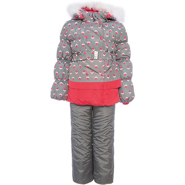 OLDOS Комплект: куртка и полукомбинезон Вишня OLDOS для девочки костюм утепленный oldos oldos mp002xb002hz