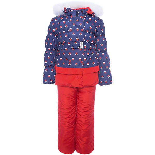 OLDOS Комплект: куртка и полукомбинезон Вишня для девочки
