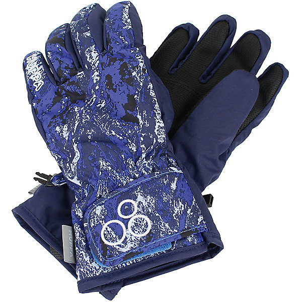Перчатки Huppa Rixton 1 для мальчикаПерчатки<br>Характеристики товара:<br><br>• модель: Rixton 1;<br>• цвет: синий принт;<br>• состав: 100% полиэстер; <br>• подкладка: 100% полиэстер, флис;<br>• утеплитель: 90 г/м2;<br>• сезон: зима;<br>• температурный режим: от 0°С до -20°С;<br>• водонепроницаемость: 5000 мм;<br>• воздухопроницаемость: 5000 мм;<br>• водо- и ветронепроницаемый, дышащий материал;<br>• застежка-липучка;<br>• усиленная вставка на ладони;<br>• светоотражающие детали;<br>• страна бренда: Финляндия;<br>• страна изготовитель: Эстония.<br><br>Теплые зимние перчатки на флисовой подкладке. Материал водонепроницаем, что позволит сохранить ручки сухими. Перчатки с усилением на ладони и застежкой-липучкой.<br><br>Перчатки Huppa Rixton 1 (Хуппа) можно купить в нашем интернет-магазине.<br>Ширина мм: 162; Глубина мм: 171; Высота мм: 55; Вес г: 119; Цвет: синий; Возраст от месяцев: 36; Возраст до месяцев: 60; Пол: Мужской; Возраст: Детский; Размер: 3,4,5,6,7,8; SKU: 7024196;