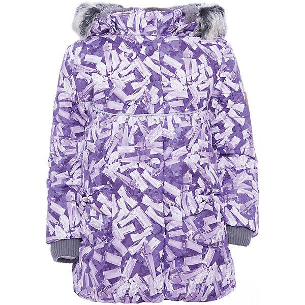 Куртка OLIVIA Huppa для девочкиВерхняя одежда<br>Характеристики товара:<br><br>• модель: Olivia;<br>• цвет: лиловый;<br>• состав: 100% полиэстер;<br>• утеплитель: полиэстер,300 гр.;<br>• подкладка: Teddy Fur, тафта,полиэстер;<br>• сезон: зима;<br>• температурный режим: от -5 до - 30С;<br>• водонепроницаемость: 5000 мм;<br>• воздухопроницаемость: 5000 г/м2/24ч;<br>• особенности модели: c рисунком; с мехом на капюшоне;<br>• защитная планка молнии на кнопках;<br>• защита подбородка от защемления;<br>• мягкая меховая подкладка;<br>• безопасный капюшон крепится на кнопки и, при необходимости, отстегивается;<br>• искусственный мех на капюшоне съемный;<br>• спереди расположены два накладныхкармана, с декором в виде бантиков;<br>• светоотражающие элементы для безопасности ребенка;<br>•  трикотажные манжеты; <br>• страна бренда: Финляндия;<br>• страна изготовитель: Эстония.<br><br>Зимняя куртка с капюшоном Olivia для девочки изготовлена из водо и ветронепроницаемого, грязеотталкивающего материала. В куртке Olivia 300 грамм утеплителя, которые обеспечат тепло и комфорт ребенку при температуре от -5 до -30 градусов.Подкладка —Teddy Fur,тафта.<br><br>Функциональные элементы: капюшон отстегивается с помощью кнопок, мех отстегивается, защитная планка молнии на кнопках, защита подбородка от защемления, мягкая меховая подкладка, карманы без застежек, трикотажные манжеты, светоотражающие элементы. <br><br>Куртку Olivia для девочки бренда HUPPA  можно купить в нашем интернет-магазине.<br>Ширина мм: 356; Глубина мм: 10; Высота мм: 245; Вес г: 519; Цвет: лиловый; Возраст от месяцев: 12; Возраст до месяцев: 15; Пол: Женский; Возраст: Детский; Размер: 80,122,116,110,104,98,92,86; SKU: 7024864;