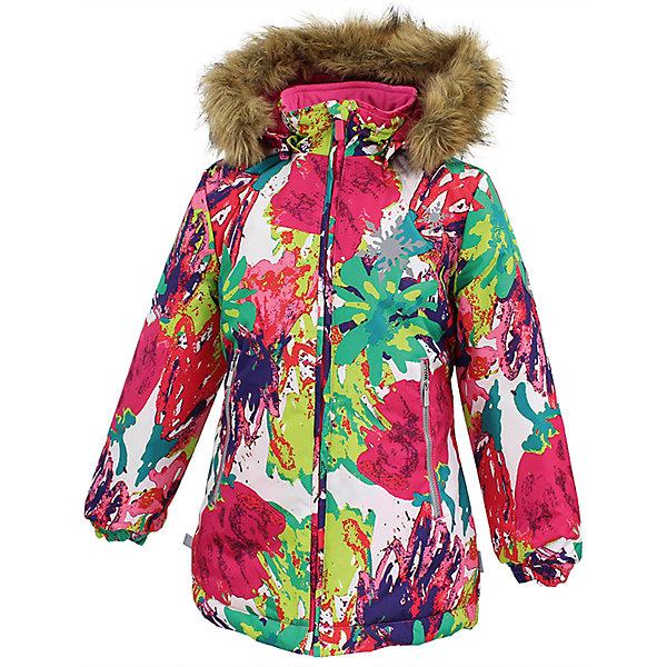 Куртка LOORE Huppa для девочкиВерхняя одежда<br>Характеристики товара:<br><br>• модель: Loore;<br>• состав: 100% полиэстер;<br>• утеплитель:  нового поколенияHuppaTherm,300 гр.;<br>• подкладка: полиэстер, тафта;<br>• сезон: зима;<br>• температурный режим: от - 5 до - 30С;<br>• водонепроницаемость: 10000 мм;<br>• воздухопроницаемость: 10000 г/м2/24ч;<br>• защитная планка молнии;<br>• защита подбородка от защемления;<br>• капюшон крепится на кнопки и, при необходимости, отстегивается;<br>• эластичный шнур с фиксатором;<br>• карманы застегиваются на молнию;<br>• светоотражающие элементы для безопасности ребенка;<br>• манжеты рукавов на резинке; <br>• страна бренда: Финляндия;<br>• страна изготовитель: Эстония.<br><br>Куртка Loore  для девочки изготовлена из водо и ветронепроницаемого, грязеотталкивающего материала. В куртке Loore 300 грамм утеплителя, которые обеспечат тепло и комфорт ребенку при температуре от -5 до -30 градусов.Подкладка —полиэстер, тафта.<br><br>Функциональные элементы: капюшон отстегивается с помощью кнопок, защитная планка молнии, защита подбородка от защемления, эластичный шнур с фиксатором, карманы застегиваются на молнию,   манжеты рукавов на резинке, светоотражающие элементы. <br><br>Куртку  Loore для девочки бренда HUPPA  можно купить в нашем интернет-магазине.<br>Ширина мм: 356; Глубина мм: 10; Высота мм: 245; Вес г: 519; Цвет: разноцветный; Возраст от месяцев: 168; Возраст до месяцев: 180; Пол: Женский; Возраст: Детский; Размер: 170,110,164,158,152,146,140,134,128,122,116; SKU: 7025018;