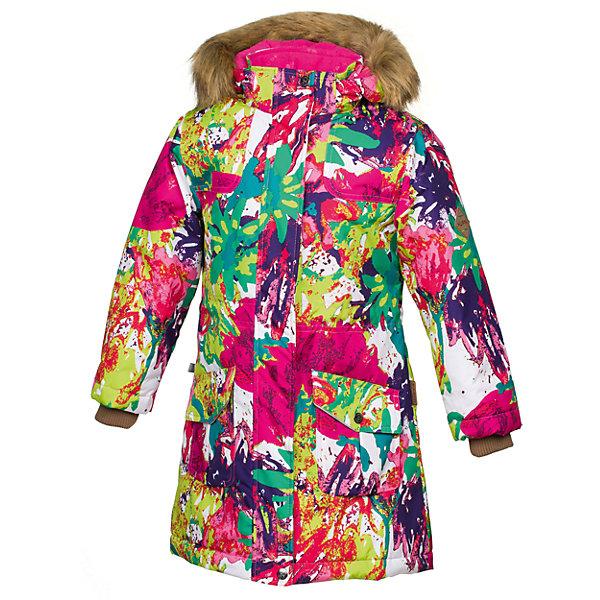 Куртка MONA Huppa для девочкиВерхняя одежда<br>Характеристики товара:<br><br>• модель: Mona;<br>• цвет: ягодный принт;<br>• состав: 100% полиэстер;<br>• утеплитель: полиэстер,300 гр.;<br>• подкладка: полиэстер, тафта, флис;<br>• сезон: зима;<br>• температурный режим: от - 5 до - 30С;<br>• водонепроницаемость: 10000 мм;<br>• воздухопроницаемость: 10000 г/м2/24ч;<br>• влагостойкие, водоотталкивающие, ветрозащитные и дышащие материалы.<br>• плечевые швы проклеены и не пропускают влагу;<br>• защитная планка молнии;<br>• двухсторонняя молния;<br>• безопасный отстёгивающийся капюшон;<br>• съемный искусственный мех на капюшоне;<br>• по линии талии регулируемый стопперами резиновый шнур;<br>• два накладных кармана;<br>• светоотражающие элементы для безопасности ребенка;<br>• внутренние вязаные манжеты на рукавах; <br>• страна бренда: Финляндия;<br>• страна изготовитель: Эстония.<br><br>Модная белоснежная парка Mona от бренда Huppa – желанное приобретение для следящих за модой девушек. Стильная модель радует безупречным дизайном. <br><br>Помимо внешней красоты парка отличается высокой функциональностью. Такое облачение не позволит владелице замёрзнуть даже в 30-ти градусный мороз. Глубокий капюшон с пушистой меховой оторочкой сделает зимние прогулки ещё комфортнее. Пара глубоких карманов на заклёпках уберегут вещи от снега. Широкие манжеты-резинки повышают теплосберегающие свойства модели, а также препятствуют проникновению под одежду снега. На подоле и талии предусмотрены регулирующие шнурки.Бегунок молнии открывается/закрывается снизу и сверху.Имеются светоотражательные элементы.<br><br>Куртку Mona для девочки бренда HUPPA  можно купить в нашем интернет-магазине.<br>Ширина мм: 356; Глубина мм: 10; Высота мм: 245; Вес г: 519; Цвет: разноцветный; Возраст от месяцев: 36; Возраст до месяцев: 48; Пол: Женский; Возраст: Детский; Размер: 146,164,158,152,170,122,116,110,140,134,128,104; SKU: 7025055;