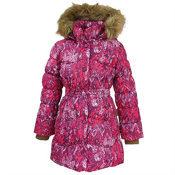 Пальто GRACE 1 Huppa для девочкиПальто и плащи<br>Характеристики товара:<br><br>• модель: Grace 1;<br>• состав: 100% полиэстер;<br>• утеплитель: 50% пух, 50% перо.;<br>• подкладка: тафта,полиэстер;<br>• сезон: зима;<br>• температурный режим: от - 5 до - 30С;<br>• водонепроницаемость: 5000 мм;<br>• воздухопроницаемость: 5000 г/м2/24ч;<br>• влагоустойчивая и дышащая ткань верхнего слоя изделияпозволяет сохранить внутри собственное тепло ребенка и препятствует попаданию извне холодного воздуха;<br>• воротник-стойка застегивается на застежку-молнию и кнопки;<br>• безопасный капюшон при необходимости, отстегивается;<br>• мех на капюшоне съемный;<br>• низ рукавов дополнен эластичными манжетами;<br>• карманы на молнии;<br>• светоотражающие детали для безопасности ребенка;<br>• страна бренда: Финляндия;<br>• страна изготовитель: Эстония.<br><br>Параметры изделия:<br>• Объем груди : 78 см<br>• Объем талии : 68 см<br>• Объем бедер : 84 см<br>• Длина рукава с учетом плеча : 55 см<br>• Длина куртки по спинке : 66 см<br>• Высота капюшона : 28 см<br>• Глубина капюшона : 25 см<br><br>Стильное пальто Grace 1 для девочки бренда Huppa идеально подойдет для ребенка в прохладное время года. Модель изготовлена из полиэстера.Подкладка — тафта,полиэстер.<br><br>Пальто с капюшоном и небольшим воротником-стойкой застегивается на застежку-молнию и кнопки. Капюшон оформлен съемным мехом. Низ рукавов дополнен эластичными манжетами, не стягивающими запястья. Карманы на молнии надежно сохранят все сокровища. Такое стильное пальто станет прекрасным дополнением гардеробу вашей девочки, оно подарит комфорт и тепло.<br><br>Вы можете приобрести стильное пальто Grace 1 для девочки бренда Huppa(Хуппа) в нашем интернет-магазине.