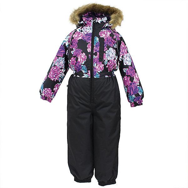 Комбинезон WILLY Huppa для девочкиВерхняя одежда<br>Характеристики товара:<br><br>• цвет: черно-фиолетовый ;<br>• сезон: зима;<br>• температурный режим: от -5 до-30;<br>• состав:  100% полиэстер;<br>• водонепроницаемость: 10000 мм;<br>• воздухопроницаемость: 10000 мм;<br>• утеплитель: 300 гр;<br>• подкладка: 100% полиэстер: тафта, флис;<br>• штрипки;<br>• капюшон крепится на кнопки, отстегивается;<br>• сидельный шов проклеен и не пропускает влагу;<br>• эластичные манжеты брюк и рукавов на резинках;<br>• застежка: молния;<br>• меховая опушка из искуственного меха.<br><br>Теплый зимний комбинезон Huppa WILLY предлагается в расцветках для девочек и мальчиков. У комбинезона съемный капюшон с опушкой из искусственного меха. Практичный карман на груди. Съемные штрипки на ботинок.У комбинезона Huppa WILLY имеются светоотражающие нашивки для безопасности в темное время суток. Низ рукавов и брючин собран на резинку. Для дополнительной водонепроницаемости задний шов проклеен.<br><br>Одежда Huppa не требует сложного ухода. Небольшие загрязнения легко удаляются влажной губкой, также изделия можно стирать в стиральной машине в холодной воде (30С) без использования отбеливателей и хлорсодержащих моющих средств. Перед стиркой изделие необходимо вывернуть наизнанку, закрыть все замки и крепления на липучках. Не замачивать. Не гладить. Допускается сушка изделий только при комнатной температуре.<br><br>Детский комбинезон Huppa WILLY можно купить в нашем интернет-магазине.<br>Ширина мм: 356; Глубина мм: 10; Высота мм: 245; Вес г: 519; Цвет: черный; Возраст от месяцев: 18; Возраст до месяцев: 24; Пол: Женский; Возраст: Детский; Размер: 92,134,128,122,116,110,104,98; SKU: 7025423;