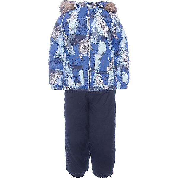 Комплект: куртка и брюки AVERY Huppa для мальчикаВерхняя одежда<br>Характеристика товара:<br><br>• цвет: синий<br>• Сезон: зима<br>• Температурный режим: от -0 до-30<br>• Состав: мембранная ткань 5000/10000<br>• Утеплитель: куртка:300 грамм, брюки:160 грамм(100% полиэстер).<br>• Подкладка: 100% хлопок<br>• Воздухопроницаемость:10000 г/м2/24ч<br>• Водонепроницаемость: 10000 мм<br>• Застежка: молния<br>• Меховая опушка из искуственного меха<br>• Комплект куртка+полуконбинезон<br>• Шаговый шов – проклеен<br>• Капюшон съемный<br>• Подтяжки на полукомбинезоне – резинки<br>• Светоотражающие детали<br>• Производитель: HUPPA (Эстония)<br>Красивый зимний комплект AVERY для детей младшего возраста. Легкая, но очень теплая куртка из мягкой мембранной ткани не содержит лишних деталей. В модели 300 грамм утеплителя, а значит, вы можете быть уверены, что ваш малыш не замерзнет на прогулке в морозную погоду, даже если будет двигаться не слишком активно. Комплект для малышей AVERY благодаря простым манжетам на резинке и удобной молнии легко надевать и застегивать. Капюшон с меховой опушкой сделан в форме забавного колпачка и при желании отстегивается. <br><br>Практичный однотонный полукомбинезон темного цвета выполнен из более прочной мембраны и скроен без внутренних швов, для лучшей защиты от истирания и попадания влаги. Задний шов проклеен, также для дополнительной защиты от влаги. Манжеты по низу брюк и тканевые штрипки на ботинки надежно фиксируют брюки и защищают от попадания снега. На костюмах AVERY светоотражающие элементы делают вашего ребенка более заметным на улице, даже в условиях плохой видимости и в темное время суток.<br><br>Комплект для малышей AVERY можно купить в нашем интернет-магазине.<br>Ширина мм: 356; Глубина мм: 10; Высота мм: 245; Вес г: 519; Цвет: синий; Возраст от месяцев: 12; Возраст до месяцев: 18; Пол: Мужской; Возраст: Детский; Размер: 86,80,104,98,92; SKU: 7026976;