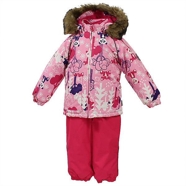 Комплект: куртка и брюки AVERY Huppa для девочкиКомплекты<br>Характеристика товара:<br><br>• цвет: розовый<br>• температурный режим: от -0 до-30;<br>• утеплитель: куртка:300 грамм, брюки:160 грамм(100% полиэстер);<br>• подкладка: 100% хлопок;<br>• воздухопроницаемость: 5 000 мм куртка / 10 000 мм брюки;<br>• водонепроницаемость:  5 000 мм куртка / 10 000 мм брюки;<br>• застежка: молния;<br>• меховая опушка из искуственного меха;<br>• шаговый шов – проклеен;<br>• капюшон съемный;<br>• подтяжки на полукомбинезоне – резинки;<br>• светоотражающие детали;<br>• производитель: HUPPA (Эстония)<br><br>Красивый зимний комплект AVERY для детей младшего возраста. Легкая, но очень теплая куртка из мягкой мембранной ткани не содержит лишних деталей. В модели 300 грамм утеплителя, а значит, вы можете быть уверены, что ваш малыш не замерзнет на прогулке в морозную погоду, даже если будет двигаться не слишком активно. Комплект для малышей AVERY благодаря простым манжетам на резинке и удобной молнии легко надевать и застегивать. Капюшон с меховой опушкой сделан в форме забавного колпачка и при желании отстегивается. <br><br>Практичный однотонный полукомбинезон темного цвета выполнен из более прочной мембраны и скроен без внутренних швов, для лучшей защиты от истирания и попадания влаги. Задний шов проклеен, также для дополнительной защиты от влаги. Манжеты по низу брюк и тканевые штрипки на ботинки надежно фиксируют брюки и защищают от попадания снега. На костюмах AVERY светоотражающие элементы делают вашего ребенка более заметным на улице, даже в условиях плохой видимости и в темное время суток.<br><br>Комплект для малышей AVERY можно купить в нашем интернет-магазине.<br>Ширина мм: 356; Глубина мм: 10; Высота мм: 245; Вес г: 519; Цвет: розовый; Возраст от месяцев: 12; Возраст до месяцев: 15; Пол: Женский; Возраст: Детский; Размер: 80,104,98,92,86; SKU: 7027012;