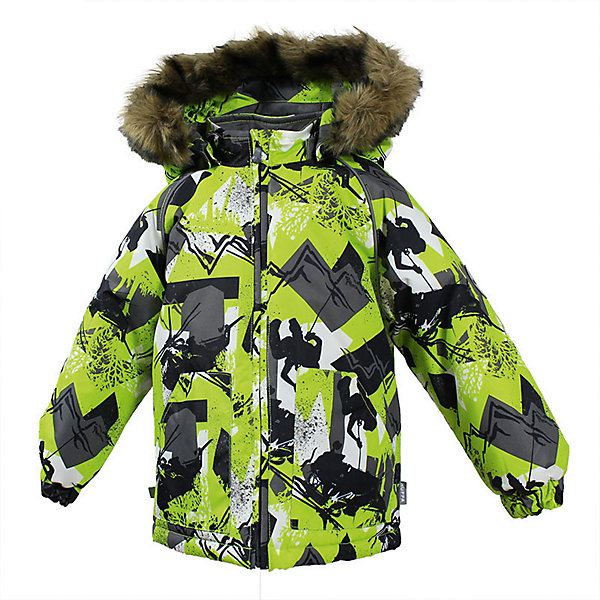 Куртка VIRGO Huppa для мальчикаЗимние куртки<br>Характеристики товара:<br><br>• цвет: зеленый;<br>• пол: мальчик;<br>• состав: 100% полиэстер;<br>• утеплитель: полиэстер 300 гр .;<br>• подкладка: фланель 100% хлопок;<br>• сезон: зима;<br>• температурный режим: от -5 до - 30С;<br>• водонепроницаемость: 10000 мм ;<br>• воздухопроницаемость: 10000 г/м2/24ч;<br>• особенности модели: c рисунком; с мехом на капюшоне;<br>• манжеты рукавов эластичные, на резинках;<br>• безопасный капюшон крепится на кнопки и, при необходимости, отстегивается;<br>• мех на капюшоне не съемный;<br>• светоотражающие элементы для безопасности ребенка;<br>• страна бренда: Финляндия;<br>• страна изготовитель: Эстония.<br><br>Зимняя куртка с капюшоном для мальчика. Все швы проклеены и водонепроницаемы, а сама она изготовлена из водо и ветронепроницаемого, грязеотталкивающего материала.<br><br>Съемный капюшон защищает от ветра, к тому же он абсолютно безопасен – легко отстегнется, если вдруг за что-нибудь зацепится. Обратите внимание: куртку можно сушить в сушильной машине. Зимняя куртка на молнии для мальчика декорирована рисунком.<br><br>Зимнюю куртку Virgo для мальчика фирмы HUPPA  можно купить в нашем интернет-магазине.<br>Ширина мм: 356; Глубина мм: 10; Высота мм: 245; Вес г: 519; Цвет: зеленый; Возраст от месяцев: 12; Возраст до месяцев: 15; Пол: Мужской; Возраст: Детский; Размер: 80,104,98,92,86; SKU: 7027252;