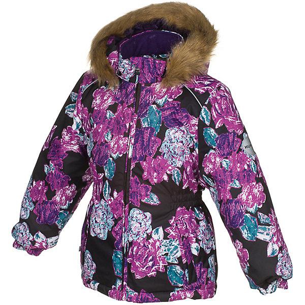Куртка MARII Huppa для девочкиВерхняя одежда<br>Характеристики товара:<br><br>• цвет: черный с цветами;<br>• пол: девочка;<br>• состав: 100% полиэстер;<br>• утеплитель: полиэстер 300 гр.;<br>• подкладка: тафта, флис;<br>• сезон: зима;<br>• температурный режим: от -5 до - 30С;<br>• водонепроницаемость: 10000 мм ;<br>• воздухопроницаемость: 10000 г/м2/24ч;<br>• особенности модели: c рисунком; с мехом на капюшоне;<br>• манжеты рукавов эластичные, на резинках;<br>• безопасный капюшон крепится на кнопки и, при необходимости, отстегивается;<br>• мех на капюшоне не съемный;<br>• светоотражающие элементы для безопасности ребенка;<br>• страна бренда: Финляндия;<br>• страна изготовитель: Эстония.<br><br>Теплая куртка для девочки Huppa идеально подойдет для ребенка в холодное время года. <br><br>Куртка Marii снабжена вшитым эластичным пояском-резинкой, обеспечивающий безупречную посадку одежды по фигуре. Внутри куртку обрамляет мягкая тафта. Внутренняя поверхность манжет и воротника отделана флисом.Капюшон, декорированный мехом, защитит нежные щечки от ветра. Спереди расположены два прорезных кармашка. Оформлено изделие оригинальным принтом. Предусмотрены светоотражающие элементы для безопасности ребенка в темное время суток.<br><br>Куртка Marii для девочки фирмы HUPPA  можно купить в нашем интернет-магазине.<br>Ширина мм: 356; Глубина мм: 10; Высота мм: 245; Вес г: 519; Цвет: черный; Возраст от месяцев: 48; Возраст до месяцев: 60; Пол: Женский; Возраст: Детский; Размер: 110,128,122,116,140,134; SKU: 7027306;
