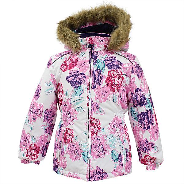 Куртка MARII Huppa для девочкиЗимние куртки<br>Характеристики товара:<br><br>• цвет: белый с цветами;<br>• пол: девочка;<br>• состав: 100% полиэстер;<br>• утеплитель: полиэстер 300 гр.;<br>• подкладка: тафта, флис;<br>• сезон: зима;<br>• температурный режим: от -5 до - 30С;<br>• водонепроницаемость: 10000 мм ;<br>• воздухопроницаемость: 10000 г/м2/24ч;<br>• особенности модели: c рисунком; с мехом на капюшоне;<br>• манжеты рукавов эластичные, на резинках;<br>• безопасный капюшон крепится на кнопки и, при необходимости, отстегивается;<br>• мех на капюшоне не съемный;<br>• светоотражающие элементы для безопасности ребенка;<br>• страна бренда: Финляндия;<br>• страна изготовитель: Эстония.<br><br>Теплая куртка для девочки Huppa идеально подойдет для ребенка в холодное время года. <br><br>Куртка Marii снабжена вшитым эластичным пояском-резинкой, обеспечивающий безупречную посадку одежды по фигуре. Внутри куртку обрамляет мягкая тафта. Внутренняя поверхность манжет и воротника отделана флисом.Капюшон, декорированный мехом, защитит нежные щечки от ветра. Спереди расположены два прорезных кармашка. Оформлено изделие оригинальным принтом. Предусмотрены светоотражающие элементы для безопасности ребенка в темное время суток.<br><br>Куртка Marii для девочки фирмы HUPPA  можно купить в нашем интернет-магазине.<br>Ширина мм: 356; Глубина мм: 10; Высота мм: 245; Вес г: 519; Цвет: розовый/белый; Возраст от месяцев: 60; Возраст до месяцев: 72; Пол: Женский; Возраст: Детский; Размер: 116,110,104,98,92,140,134,128,122; SKU: 7027313;