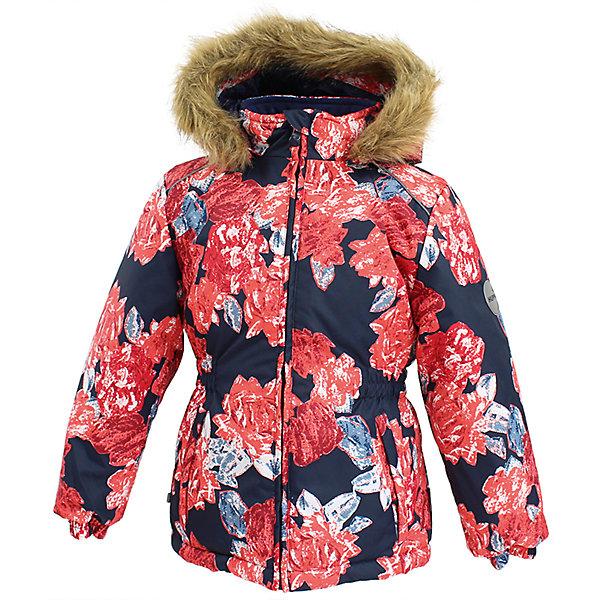 Куртка MARII Huppa для девочкиВерхняя одежда<br>Характеристики товара:<br><br>• цвет: темно - синий с цветами;<br>• пол: девочка;<br>• состав: 100% полиэстер;<br>• утеплитель: полиэстер 300 гр.;<br>• подкладка: тафта, флис;<br>• сезон: зима;<br>• температурный режим: от -5 до - 30С;<br>• водонепроницаемость: 10000 мм ;<br>• воздухопроницаемость: 10000 г/м2/24ч;<br>• особенности модели: c рисунком; с мехом на капюшоне;<br>• манжеты рукавов эластичные, на резинках;<br>• безопасный капюшон крепится на кнопки и, при необходимости, отстегивается;<br>• мех на капюшоне не съемный;<br>• светоотражающие элементы для безопасности ребенка;<br>• страна бренда: Финляндия;<br>• страна изготовитель: Эстония.<br><br>Теплая куртка для девочки Huppa идеально подойдет для ребенка в холодное время года. <br><br>Куртка Marii снабжена вшитым эластичным пояском-резинкой, обеспечивающий безупречную посадку одежды по фигуре. Внутри куртку обрамляет мягкая тафта. Внутренняя поверхность манжет и воротника отделана флисом.Капюшон, декорированный мехом, защитит нежные щечки от ветра. Спереди расположены два прорезных кармашка. Оформлено изделие оригинальным принтом. Предусмотрены светоотражающие элементы для безопасности ребенка в темное время суток.<br><br>Куртка Marii для девочки фирмы HUPPA  можно купить в нашем интернет-магазине.<br>Ширина мм: 356; Глубина мм: 10; Высота мм: 245; Вес г: 519; Цвет: синий; Возраст от месяцев: 48; Возраст до месяцев: 60; Пол: Женский; Возраст: Детский; Размер: 110,140,134,128,122,116; SKU: 7027337;