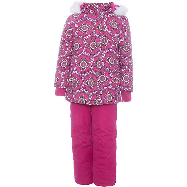 Batik Комплект: куртка и полукомбенизон Дарина Batik для девочки лонгслив для девочки batik цвет розовый ds0143 4 размер 140