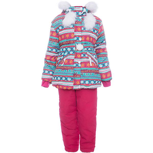 Комплект: куртка и полукомбенизон Майя Batik для девочкиВерхняя одежда<br>Характеристики товара:<br><br>• цвет: бирюзовый<br>• комплектация: куртка и полукомбинезон <br>• состав ткани: таслан<br>• подкладка: поларфлис<br>• утеплитель: слайтекс, синтепон <br>• сезон: зима<br>• мембранное покрытие<br>• температурный режим: от -35 до 0<br>• водонепроницаемость: 5000 мм <br>• паропроницаемость: 5000 г/м2<br>• плотность утеплителя: куртка - 350 г/м2, полукомбинезон - 200 г/м2<br>• застежка: молния<br>• капюшон: с мехом, отстегивается<br>• встроенный термодатчик<br>• страна бренда: Россия<br>• страна изготовитель: Россия<br><br>Такой мембранный комплект для девочки украшен меховыми помпонами, принтом и опушкой на капюшоне. Зимний комплект создан с учетом особенностей строения ребенка. Плотный материал детского зимнего комплекта, усиленный мембраной, не промокает и не продувается. Флисовая подкладка комплекта для зимы обеспечивает комфорт и тепло.<br><br>Комплект: куртка и полукомбинезон Майя Batik (Батик) для девочки можно купить в нашем интернет-магазине.<br>Ширина мм: 356; Глубина мм: 10; Высота мм: 245; Вес г: 519; Цвет: бирюзовый; Возраст от месяцев: 12; Возраст до месяцев: 18; Пол: Женский; Возраст: Детский; Размер: 86,128,122,116,110,104,98,92; SKU: 7028199;