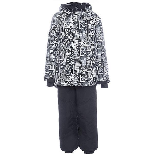Комплект: куртка и полукомбенизон Сэм Batik для мальчикаВерхняя одежда<br>Характеристики товара:<br><br>• цвет: белый, черный<br>• комплектация: куртка и полукомбинезон<br>• состав ткани: таслан<br>• подкладка: поларфлис<br>• утеплитель: слайтекс<br>• сезон: зима<br>• мембранное покрытие<br>• температурный режим: от -35 до 0<br>• водонепроницаемость: 5000 мм <br>• паропроницаемость: 5000 г/м2<br>• плотность утеплителя: куртка - 350 г/м2, полукомбинезон - 200 г/м2<br>• застежка: молния<br>• капюшон: без меха, отстегивается<br>• встроенный термодатчик<br>• страна бренда: Россия<br>• страна изготовитель: Россия<br><br>Тепло и удобно одеть ребенка зимой поможет этот мембранный комплект. Зимний детский комплект защитит ребенка от попадания снега внутрь благодаря манжетам. Мембранное покрытие этого комплекта для мальчика не пропускает ветер и мороз. Это зимний комплект для мальчика дополнен удобными карманами и капюшоном. <br><br>Комплект: куртка и полукомбинезон Сэм Batik (Батик) для мальчика можно купить в нашем интернет-магазине.<br>Ширина мм: 356; Глубина мм: 10; Высота мм: 245; Вес г: 519; Цвет: черный/белый; Возраст от месяцев: 96; Возраст до месяцев: 108; Пол: Мужской; Возраст: Детский; Размер: 134,122,164,158,152,146,140,128; SKU: 7028409;