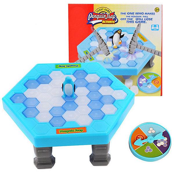 Настольная игра Ловкий пингвинНастольные игры для всей семьи<br>Характеристики:<br><br>• возраст: от 3 лет<br>• в наборе: игровое поле, 4 ножки, 20 ячеек голубого цвета, 20 ячеек белого цвета, рулетка, пингвин, 2 молотка<br>• количество игроков: 2 человека<br>• время игры: 10-15 минут<br>• материал: пластик<br>• упаковка: картонная коробка<br>• размер упаковки: 25,5х25,5х6 см.<br>• вес: 345 гр.<br><br>Настольная игра «Ловкий пингвин» способствует развитию логического мышления, моторики и реакции ребенка.<br><br>Задача игроков: выбивать из игрового поля ячейки не уронив при этом пингвина.<br><br>Игровое поле представляет собой шестиугольную платформу на ножках, в которую вставляются ячейки-льдинки голубого и белого цвета. В центр игрового поля ставится фигурка пингвина. Игроки по очереди вращают рулетку и выбивают молотком льдинку указанного стрелкой цвета. Тот игрок, на чьём ходе, пингвин упадёт, будет считаться проигравшим.<br><br>Игра изготовлена из высокопрочного нетоксичного пластика. Соответствует требованиям безопасности продукции.<br><br>Настольную игру Ловкий пингвин можно купить в нашем интернет-магазине.<br>Ширина мм: 255; Глубина мм: 255; Высота мм: 60; Вес г: 150; Возраст от месяцев: 36; Возраст до месяцев: 2147483647; Пол: Унисекс; Возраст: Детский; SKU: 7029048;