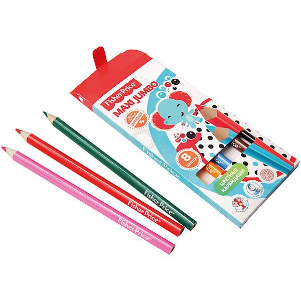Limpopo Цветные карандаши Jumbo Fisher Price, 8 цветов карандаши цветные evolution 18 цветов b937513