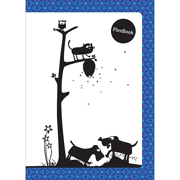 Тетрадь А5 60листов Flex Book Animals синТетради<br>Характеристики товара:<br><br>• количество листов: 60;<br>• формат: А5;<br>• линовка: клетка;<br>• возраст: от 7 лет;<br>• размер: 21х14,5 см;<br>• размер упаковки: 21х14,5х0,5 см;<br>• вес: 144 грамма.<br><br>Тетрадь Animals выполнена по специальной японской технологии Seihon. Благодаря инновационной технологии тетрадь можно поворачивать на 360 градусов, сгибать, скручивать и даже складывать. Тетради Flex Book отлично подходят для левшей. Внутренний блок в клетку надежно защищен обложкой из мелованного картона.<br><br>Тетрадь А5 60листов «Flex Book» Animals син можно купить в нашем интернет-магазине.<br>Ширина мм: 210; Глубина мм: 145; Высота мм: 5; Вес г: 144; Возраст от месяцев: 84; Возраст до месяцев: 2147483647; Пол: Унисекс; Возраст: Детский; SKU: 7029922;