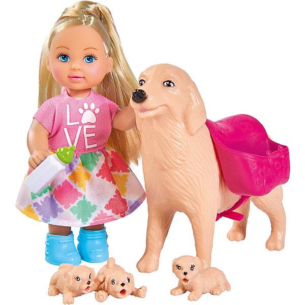 """Simba Игровой набор с мини-куклой Simba """"Evi Love"""" Еви с собачкой и щенками, 12 см"""
