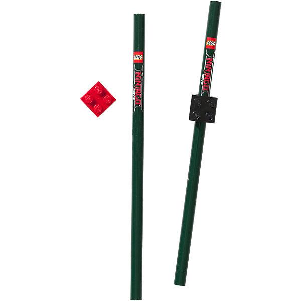 Набор карандашей (2 шт.) с насадками в форме кирпичика LEGO Ninjago Movie (Лего Фильм: Ниндзяго)Чернографитные<br>Характеристики:<br><br>• возраст: от 6 лет;<br>• материал: дерево, пластик;<br>• в наборе: 2 карандаша, 20 насадки;<br>• серия: Ninjago Movie;<br>• размер упаковки: 20х6х2 см. <br> <br>Чернографитовые карандаши предназначены для черчения и рисования, они имеют целый ряд преимуществ, это:<br>• специальным образом обработанная древесина,<br>• многослойная покраска корпуса (от 13 до 18 раз),<br>• ударопрочный грифель,<br>• легко стирается ластиком.<br><br>Набор состоит из 2-х карандашей с твёрдо-мягким грифелем и 2-х насадок можно купить в нашем интернет-магазине.<br>Ширина мм: 246; Глубина мм: 73; Высота мм: 20; Вес г: 32; Возраст от месяцев: 60; Возраст до месяцев: 144; Пол: Мужской; Возраст: Детский; SKU: 7031275;