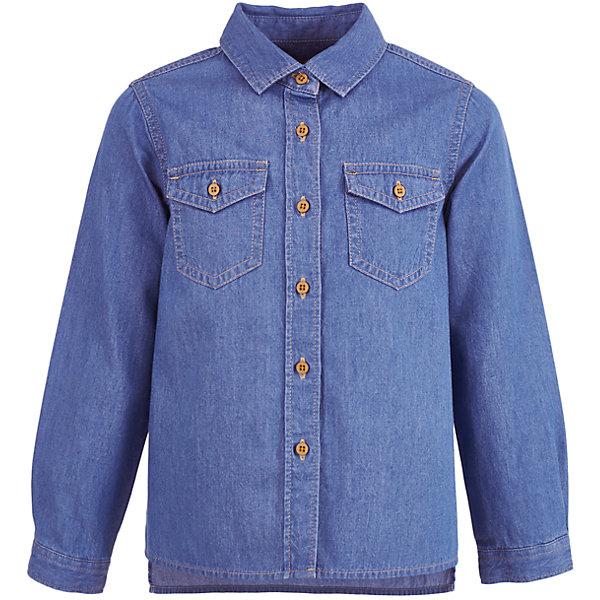 Button Blue Джинсовая рубашка   для девочки