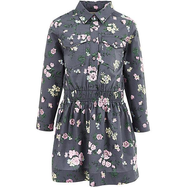 Платье Button Blue для девочкиПлатья и сарафаны<br>Характеристики товара:<br><br>• цвет: темно-серый;<br>• состав: 98% хлопок, 2% эластан;<br>• сезон: демисезон;<br>• особенности: с рисунком;<br>• платье с длинным рукавом;<br>• утяжка по линии талии;<br>• застежка: пуговицы до линии талии;<br>• манжеты рукавов на пуговице;<br>• два накладных кармана на пуговице;<br>• страна бренда: Россия;<br>• страна изготовитель: Китай.<br><br>Платье с длинным рукавом для девочки. Платье застегивается на пуговицы от линии талии, манжеты рукавов на одной пуговице. Утяжка по линии талии, приталенный силуэт. Платье с двумя накладными карманами, которые застегиваются на пуговицу.<br><br>Платье Button Blue (Баттон Блю) можно купить в нашем интернет-магазине.<br>Ширина мм: 236; Глубина мм: 16; Высота мм: 184; Вес г: 177; Цвет: темно-серый; Возраст от месяцев: 72; Возраст до месяцев: 84; Пол: Женский; Возраст: Детский; Размер: 122,128,116,110,104,98,146,140,134; SKU: 7037679;