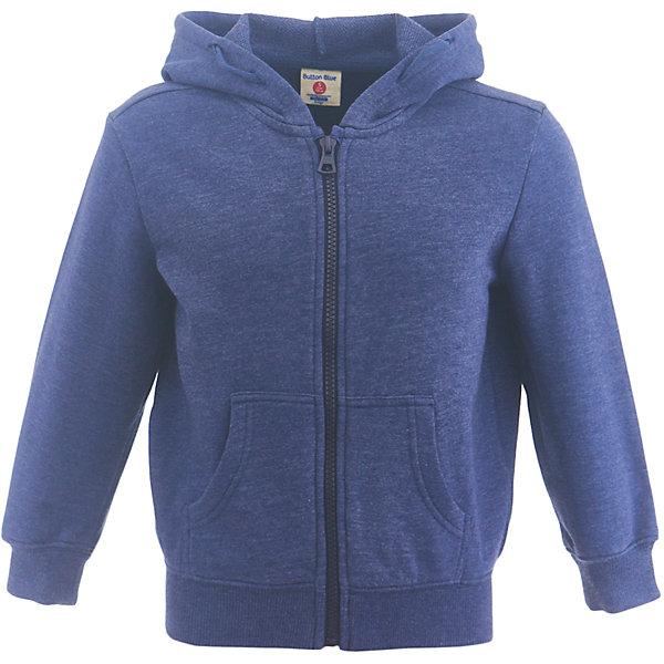 Толстовка Button Blue для мальчикаТолстовки<br>Характеристики товара:<br><br>• цвет: синий;<br>• состав: 60% хлопок, 40% полиэстер;<br>• сезон: демисезон;<br>• с длинным рукавом;<br>• особенности: однотонная;<br>• застежка: молния по всей длине;<br>• эластичные манжеты и низ изделия;<br>• капюшон с шнурками-утяжками;<br>• два кармана;<br>• страна бренда: Россия;<br>• страна изготовитель: Китай.<br><br>Толстовка с капюшоном для мальчика. Синяя толстовка на молнии. Капюшон регулируется при помощи шнурков-утяжек. У толстовки эластичные манжеты и низ изделия.<br><br>Толстовку Button Blue (Баттон Блю) можно купить в нашем интернет-магазине.<br>Ширина мм: 190; Глубина мм: 74; Высота мм: 229; Вес г: 236; Цвет: темно-синий; Возраст от месяцев: 24; Возраст до месяцев: 36; Пол: Мужской; Возраст: Детский; Размер: 98,158,152,146,140,134,128,122,116,110,104; SKU: 7038406;