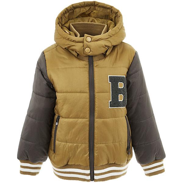 Куртка Button Blue для мальчикаВерхняя одежда<br>Характеристики товара:<br><br>• цвет: коричневый;<br>• состав: 100% полиэстер;<br>• подкладка: 100% полиэстер, 100% хлопок;<br>• утеплитель: 100% полиэстер;<br>• сезон: демисезон;<br>• температурный режим: от +5 до -10С;<br>• застежка: молния по всей длине;<br>• защита подбородка от защемления;<br>• капюшон не отстегивается;<br>• капюшон дополнен шнурком-утяжкой со стопером;<br>• высокий эластичный трикотажный воротник;<br>• эластичные трикотажные манжеты и низ изделия;<br>• карманы на молнии;<br>• страна бренда: Россия;<br>• страна изготовитель: Китай.<br><br>Демисезонная куртка с капюшоном для мальчика. Куртка застегивается на молнию по всей длине. У куртки эластичные манжеты и низ изделия, высокий трикотажный, эластичный воротник защитит шею от ветра и холода. Капюшон имеет шнурок-утяжку со стопером.<br><br>Куртку Button Blue (Баттон Блю) можно купить в нашем интернет-магазине.