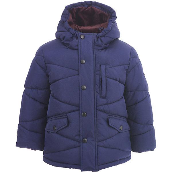 Куртка Button Blue для мальчикаВерхняя одежда<br>Характеристики товара:<br><br>• цвет: синий;<br>• состав: 100% полиэстер;<br>• подкладка: 100% полиэстер, 100% хлопок;<br>• утеплитель: 100% полиэстер;<br>• сезон: зима;<br>• температурный режим: от 0 до -20С;<br>• застежка: молния по всей длине с дополнительной планкой на кнопках;<br>• защита подбородка от защемления;<br>• капюшон не отстегивается;<br>• капюшон дополнен шнурком-утяжкой со стопером;<br>• эластичные трикотажные внутренние манжеты;<br>• внутренняя утяжка со стопером по низу изделия;<br>• два боковых кармана и карман на груди;<br>• страна бренда: Россия;<br>• страна изготовитель: Китай.<br><br>Зимняя куртка с капюшоном для мальчика. Куртка застегивается на молнию по всей длине. У куртки эластичные внутренние манжеты и регулируемый низ изделия. Капюшон имеет шнурок-утяжку со стопером.<br><br>Куртку Button Blue (Баттон Блю) можно купить в нашем интернет-магазине.<br>Ширина мм: 356; Глубина мм: 10; Высота мм: 245; Вес г: 519; Цвет: темно-синий; Возраст от месяцев: 24; Возраст до месяцев: 36; Пол: Мужской; Возраст: Детский; Размер: 98,158,152,146,140,134,128,122,116,110,104; SKU: 7038903;