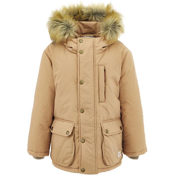 Полупальто Button Blue для мальчикаВерхняя одежда<br>Характеристики товара:<br><br>• цвет: бежевый;<br>• состав: 100% нейлон;<br>• подкладка: 100% полиэстер, 100% хлопок;<br>• утеплитель: 100% полиэстер;<br>• сезон: зима;<br>• температурный режим: от 0 до -20С;<br>• застежка: молния по всей длине с дополнительной планкой на кнопках;<br>• защита подбородка от защемления;<br>• капюшон не отстегивается;<br>• искусственный мех на капюшоне;<br>• эластичные трикотажные внутренние манжеты;<br>• внутренняя утяжка со стопером по низу изделия;<br>• два кармана на кнопках и нагрудный карман на молнии;<br>• страна бренда: Россия;<br>• страна изготовитель: Китай.<br><br>Зимняя куртка с капюшоном для мальчика. Куртка застегивается на молнию по всей длине. У куртки эластичные внутренние манжеты и регулируемый низ изделия. Капюшон отделан опушкой из искусственного меха.<br><br>Куртку Button Blue (Баттон Блю) можно купить в нашем интернет-магазине.<br>Ширина мм: 356; Глубина мм: 10; Высота мм: 245; Вес г: 519; Цвет: бежевый; Возраст от месяцев: 120; Возраст до месяцев: 132; Пол: Мужской; Возраст: Детский; Размер: 146,140,134,128,122,116,110,158,152; SKU: 7038946;