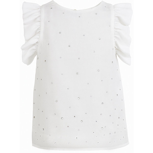 Блузка Button Blue для девочкиБлузки и рубашки<br>Характеристики товара:<br><br>• цвет: белый;<br>• состав: 100% полиэстер;<br>• подкладка: 100% хлопок;<br>• сезон: круглый год, лето;<br>• особенности: нарядная, со стразами;<br>• декорирована стразами;<br>• блузка на подкладке;<br>• рукава с рюшами;<br>• страна бренда: Россия;<br>• страна изготовитель: Китай.<br><br>Нарядная блузка без рукавов для девочки. Белая блузка на хлопковой подкладке, декорирована россыпью страз. Подойдет для торжественного случая или на каждый день.<br><br>Блузку Button Blue (Баттон Блю) можно купить в нашем интернет-магазине.<br>Ширина мм: 186; Глубина мм: 87; Высота мм: 198; Вес г: 197; Цвет: белый; Возраст от месяцев: 48; Возраст до месяцев: 60; Пол: Женский; Возраст: Детский; Размер: 110,98,158,152,146,140,134,128,122,104,116; SKU: 7039133;