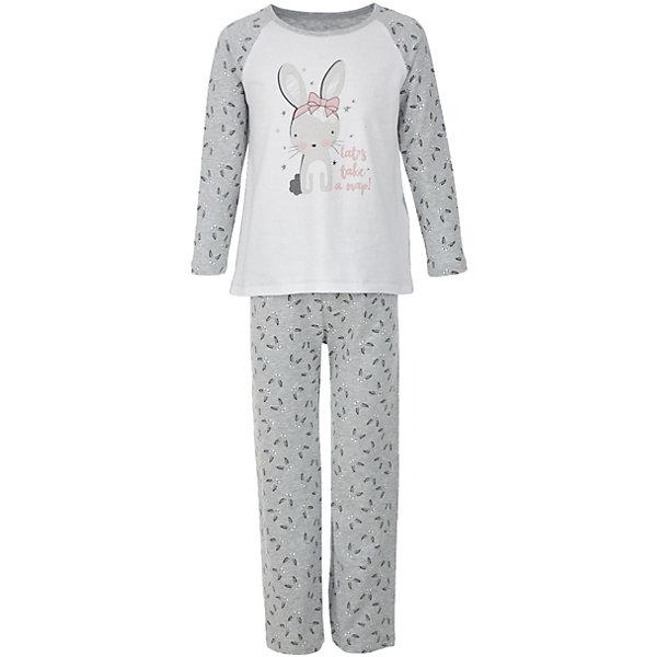 Пижама Button Blue для девочкиПижамы и сорочки<br>Характеристики товара:<br><br>• цвет: серый;<br>• состав: 95% хлопок, 5% эластан;<br>• сезон: круглый год;<br>• особенности: с рисунком;<br>• страна бренда: Россия;<br>• страна изготовитель: Китай.<br><br>Пижама для девочки. Пижама состоит из кофты с длинным рукавом и штанах на резинке. Пижама с рисунком в виде зайчиков.<br><br>Пижаму Button Blue (Баттон Блю) можно купить в нашем интернет-магазине.<br>Ширина мм: 281; Глубина мм: 70; Высота мм: 188; Вес г: 295; Цвет: серый; Возраст от месяцев: 60; Возраст до месяцев: 72; Пол: Женский; Возраст: Детский; Размер: 116,98,152,140,128,104; SKU: 7039313;