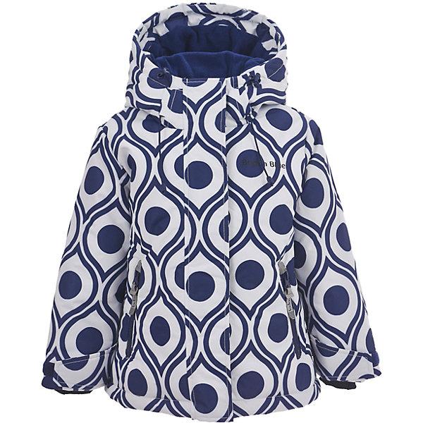 Куртка Button Blue для девочкиВерхняя одежда<br>Характеристики товара:<br><br>• цвет: синий/белый;<br>• состав: 100% полиэстер;<br>• подкладка: 100% полиэстер, флис;<br>• утеплитель: 100% полиэстер;<br>• сезон: зима;<br>• температурный режим: от 0 до -20С;<br>• застежка: молния с защитой подбородка;<br>• дополнительная защитная планка на липучках;<br>• сплошная подкладка из флиса;<br>• эластичные регулируемые манжеты на липучке;<br>• внутренний манжет с отверстием для большого пальца;<br>• водоотталкивающая ткань;<br>• внутренняя утяжка по низу изделия;<br>• карманы на молнии;<br>• страна бренда: Россия;<br>• страна изготовитель: Китай.<br><br>Яркая куртка из мембранной плащевки понравится всем любителям активных прогулок! Куртка сделана с соблюдением основных технологических особенностей производства спортивной одежды. Она не промокает, сохраняет тепло, трикотажная подкладка из мягкого флиса создает комфорт при длительной носке, утяжки защищают от продувания, светоотражающие элементы обеспечивают безопасность ребенка. Водоотталкивающая ткань с оригинальным рисунком делает куртку запоминающейся.<br><br>Куртку Button Blue (Баттон Блю) можно купить в нашем интернет-магазине.<br>Ширина мм: 356; Глубина мм: 10; Высота мм: 245; Вес г: 519; Цвет: белый; Возраст от месяцев: 24; Возраст до месяцев: 36; Пол: Женский; Возраст: Детский; Размер: 98,158,152,146,140,134,128,122,116,110,104; SKU: 7039502;