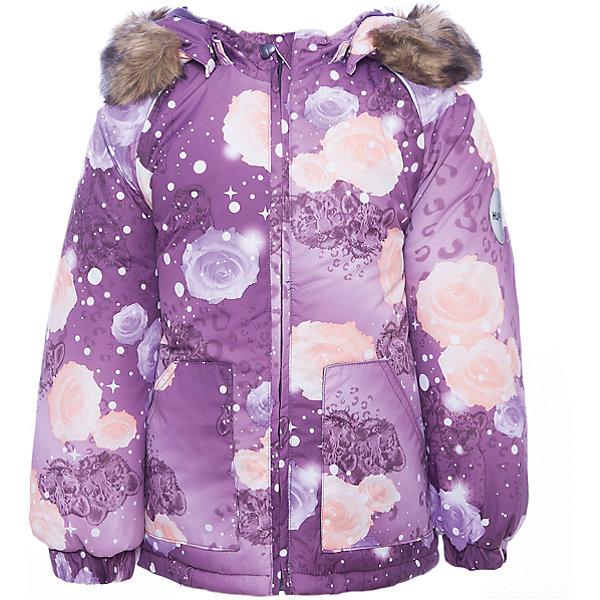 Куртка Huppa Virgo для девочкиВерхняя одежда<br>Характеристики товара:<br><br>• модель: Virgo;<br>• цвет: фиолетовый;<br>• состав: 100% полиэстер;<br>• подкладка: 100% хлопок, фланель;<br>• утеплитель: 100% полиэстер, 300 гр.;<br>• сезон: зима;<br>• температурный режим: от -5 до - 30С;<br>• водонепроницаемость: 5000 мм ;<br>• воздухопроницаемость: 5000 г/м2/24ч;<br>• особенности модели: c рисунком; с мехом на капюшоне;<br>• манжеты рукавов эластичные, на резинках;<br>• безопасный капюшон крепится на кнопки и, при необходимости, отстегивается;<br>• мех на капюшоне не съемный;<br>• светоотражающие элементы для безопасности ребенка;<br>• страна бренда: Эстония;<br>• страна изготовитель: Эстония.<br><br>Зимняя куртка с капюшоном. Все швы проклеены и водонепроницаемы, а сама она изготовлена из водо и ветронепроницаемого, грязеотталкивающего материала.<br><br>Съемный капюшон защищает от ветра, к тому же он абсолютно безопасен – легко отстегнется, если вдруг за что-нибудь зацепится. Обратите внимание: куртку можно сушить в сушильной машине. Зимняя куртка на молнии для девочки декорирована рисунком.<br><br>Куртку Virgo от бренда Huppa (Хуппа) можно купить в нашем интернет-магазине.<br>Ширина мм: 356; Глубина мм: 10; Высота мм: 245; Вес г: 519; Цвет: лиловый; Возраст от месяцев: 24; Возраст до месяцев: 36; Пол: Женский; Возраст: Детский; Размер: 98,92,86,80,104; SKU: 7039926;
