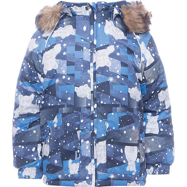 Куртка Huppa Virgo для мальчикаВерхняя одежда<br>Характеристики товара:<br><br>• модель: Virgo;<br>• цвет: синий;<br>• состав: 100% полиэстер;<br>• подкладка: 100% хлопок, фланель;<br>• утеплитель: 100% полиэстер, 300 гр.;<br>• сезон: зима;<br>• температурный режим: от -5 до - 30С;<br>• водонепроницаемость: 5000 мм ;<br>• воздухопроницаемость: 5000 г/м2/24ч;<br>• особенности модели: c рисунком; с мехом на капюшоне;<br>• манжеты рукавов эластичные, на резинках;<br>• безопасный капюшон крепится на кнопки и, при необходимости, отстегивается;<br>• мех на капюшоне не съемный;<br>• светоотражающие элементы для безопасности ребенка;<br>• страна бренда: Эстония;<br>• страна изготовитель: Эстония.<br><br>Зимняя куртка с капюшоном. Все швы проклеены и водонепроницаемы, а сама она изготовлена из водо и ветронепроницаемого, грязеотталкивающего материала.<br><br>Съемный капюшон защищает от ветра, к тому же он абсолютно безопасен – легко отстегнется, если вдруг за что-нибудь зацепится. Обратите внимание: куртку можно сушить в сушильной машине. Зимняя куртка на молнии для девочки декорирована рисунком.<br><br>Куртку Virgo от бренда Huppa (Хуппа) можно купить в нашем интернет-магазине.<br>Ширина мм: 356; Глубина мм: 10; Высота мм: 245; Вес г: 519; Цвет: темно-синий; Возраст от месяцев: 12; Возраст до месяцев: 15; Пол: Мужской; Возраст: Детский; Размер: 104,98,92,86,80; SKU: 7039932;
