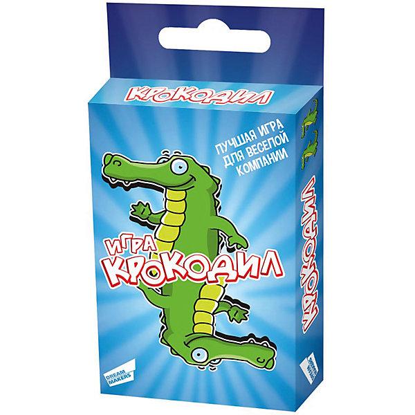 Настольная игра Крокодил Dream makersНастольные игры для всей семьи<br>Характеристики товара:<br><br>• возраст: от 10 лет;<br>• в комплекте: игровые карточки 30 шт., правила игры;<br>• количество игроков: от 2;<br>• время игры: 30 мин.;<br>• вес: 80 гр.;<br>• размер упаковки: 8,8х6х1,2 см;<br>• упаковка: картонная коробка.<br><br>«Крокодил. Cards» - это лучший способ весело провести время. Она не имеет ограничений по возрасту – в нее охотно играют, как дети, так и взрослые. Задача игроков - при помощи пантомимы объяснять значение слов. Вас ожидают уникальные задания разного уровня сложности. Игра для детей от 10 лет, рассчитанная на 2 и более игроков, развивает навыки общения.  <br><br>Детскую настольную игру «Крокодил. Cards» можно купить в нашем интернет-магазине.<br>Ширина мм: 88; Глубина мм: 59; Высота мм: 12; Вес г: 80; Возраст от месяцев: 120; Возраст до месяцев: 2147483647; Пол: Унисекс; Возраст: Детский; SKU: 7040264;