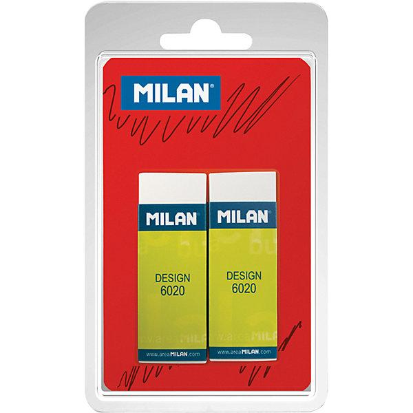 Набор ластиков Design 6020 2 шт MilanЛастики и точилки<br>Характеристики товара:<br><br>• возраст: от 5 лет;<br>• цвет: белый;<br>• материал: ПВХ;<br>• размер: 61х21х11 см;<br>• стираемые письменные принадлежности: чернографитный карандаш;<br>• форма: прямоугольная;<br>• футляр: картонный;<br>• в наборе: 2 шт.;<br>• упаковка: блистер с европодвесом;<br>• размер упаковки: 14х8,2х1,5см;<br>• вес: 62 гр.;<br>• страна производитель: Испания.<br><br>Набор ластиков Milan «Design 6020» из 2-х штук. ПВХ ластик прямоугольной формы. Подходит для всех видов поверхностей.<br><br>Набор ластиков «Design 6020» 2 шт Milan, можно купить в нашем интернет-магазине.
