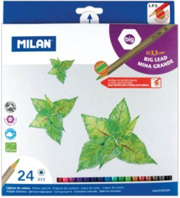 Карандаши  213  24 цвета Milan, утолщенный грифель, артикул:7044183 - Рисование и раскрашивание