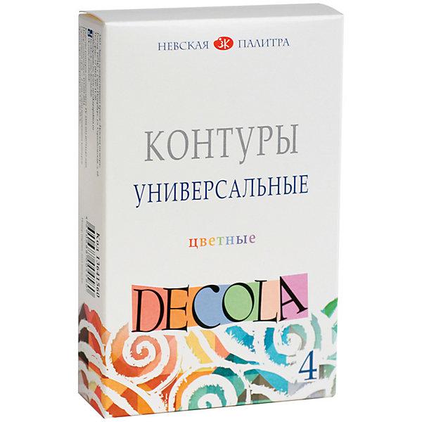 Купить Контуры акриловые 4 цвета 18мл Decola, Невская палитра, Россия, Унисекс