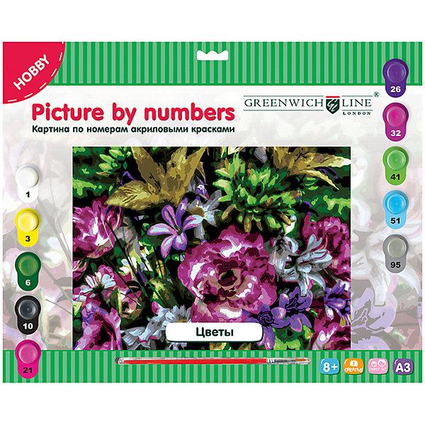 Greenwich Line Картина по номерам А3 Цветы
