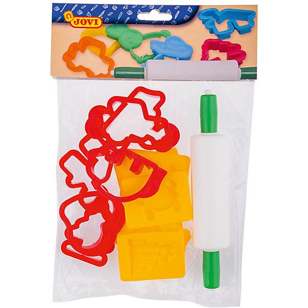 Набор для лепки формочки 12 шт + скалка JOVIНаборы для лепки игровые<br>Характеристики:<br><br>• материал: пластик;<br>• размер упаковки: 22х18х1,5см.;<br>• вес упаковки: 92г.;<br>• для детей в возрасте: от 3лет.;<br>• страна производитель: Испания.<br><br>Набор для лепки бренда Jovi (Джови) станет отличным помощником для малышей, занимающихся лепкой. Он создан из качественных, экологически чистых материалов, что очень важно для детских товаров.<br><br> Набор пластиковых инструментов создан для лепки поделок из пластилина, мягкой пасты и специального теста. В него входят двенадцать формочек и скалка. Применяя его можно превратить процесс лепки в интересную игру, что надолго увлечёт малыша.<br><br>Использование специального набора поможет детям совершенствовать творческие способности, мелкую моторику, чувство самовыражения, фантазию и аккуратность.<br> <br>Набор для лепки можно купить в нашем интернет-магазине.<br>Ширина мм: 220; Глубина мм: 180; Высота мм: 15; Вес г: 92; Возраст от месяцев: 36; Возраст до месяцев: 2147483647; Пол: Унисекс; Возраст: Детский; SKU: 7044259;