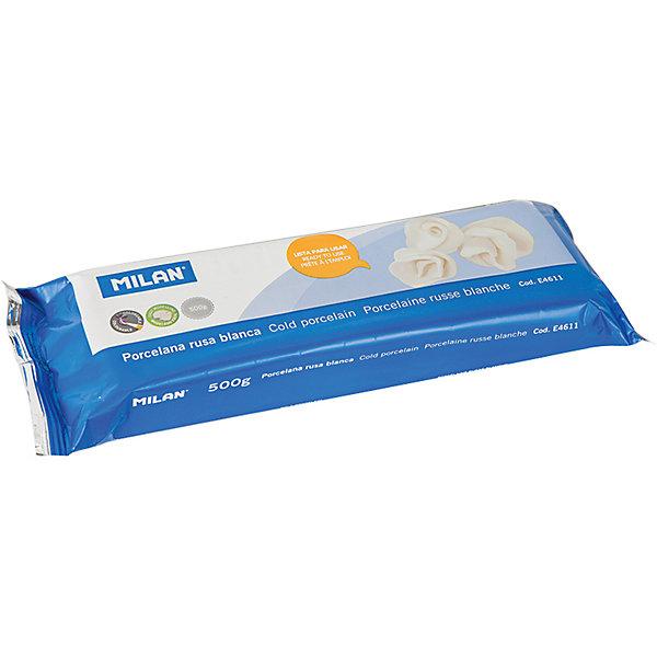 Глина для лепки 500г Milan, белая, холодный фарфорГлина для лепки<br>Характеристики товара:<br><br>• возраст: от 7 лет;<br>• тип: глина для лепки;<br>• вес глины: 500 гр.;<br>• цвет глины: белая, фолодный фарфор;<br>• упаковка: вакуумный пакет;<br>• размер упаковки: 20х7х3,3 см.;<br>• вес: 525 гр.;<br>• страна обладатель бренда: Россия.<br><br>Лепка это увлекательное занятие, которое полезно и интересно как детям, так и взрослым.<br><br>Поделки из глины изготавливают как профессионалы, так и любители.<br><br>Для малышей лепка просто необходима для развития мелкой моторики, которая тесно связана с развитием речи и интеллекта.<br><br>Глина для моделирования высокой плотности, затвердевает на воздухе. <br><br>Не требует обжига. <br><br>Позволяет моделировать очень мелкие детали. <br><br>Легко красится и покрывается лаком.<br><br>Глину для лепки Milan можно купить в нашем интернет-магазине.<br>Ширина мм: 200; Глубина мм: 70; Высота мм: 33; Вес г: 525; Возраст от месяцев: 84; Возраст до месяцев: 2147483647; Пол: Унисекс; Возраст: Детский; SKU: 7044270;
