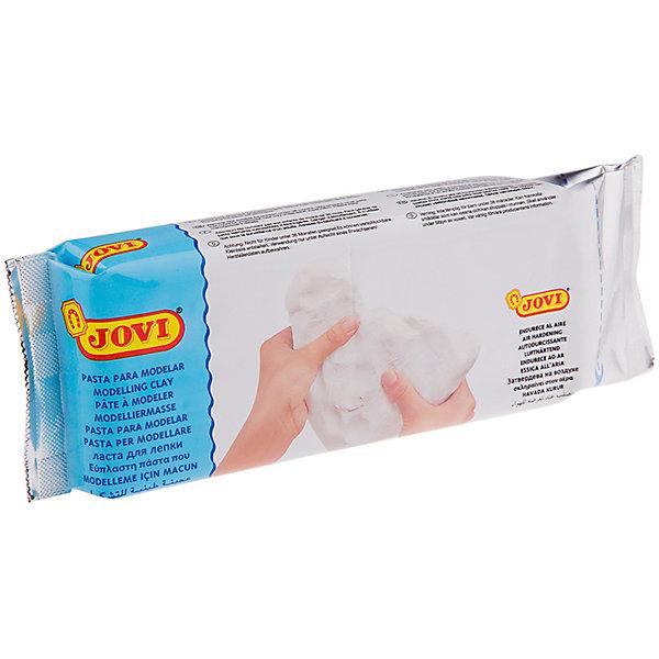 Паста для моделирования отвердевающая 500г JOVI, белаяГлина для лепки<br>Характеристики товара:<br><br>• возраст: от 3 лет;<br>• тип: паста для моделирования;<br>• вес пасты: 500 гр.;<br>• цвет: белая;<br>• упаковка: вакуумный пакет;<br>• размер упаковки: 22х7,5х2,8 см.;<br>• вес: 511 гр.;<br>• страна обладатель бренда: Россия.<br><br>Паста для лепки и моделирования, отвердевающая на воздухе готова к использованию, по свойствам напоминает глину, но работать с ней легче. <br><br>Моделируется руками, при необходимости можно использовать инструменты. <br><br>Пластична, легко лепится, раскатывается, режется, принимает любую форму, не липнет к рукам. <br><br>Без запаха. <br><br>Затвердевает на воздухе, после высыхания становится очень прочной, не трескается при высыхании. <br><br>Готовое изделие можно расписывать красками и декорировать в различных техниках. <br><br>Хранить массу необходимо в герметичной емкости. <br><br>Основной состав: вода, карбонат кальция, целлюлоза, каолин.<br><br>Пасту для моделирования Jovi можно купить в нашем интернет-магазине.<br>Ширина мм: 220; Глубина мм: 75; Высота мм: 28; Вес г: 511; Возраст от месяцев: 36; Возраст до месяцев: 2147483647; Пол: Унисекс; Возраст: Детский; SKU: 7044271;