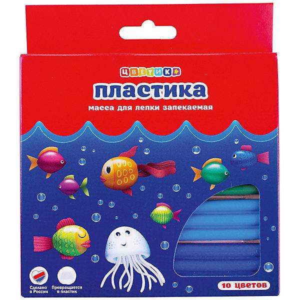 Набор пластики для лепки 10 цветов 200г ЦветикПластилин<br>Характеристики товара:<br><br>• возраст: от 7 лет;<br>• тип: набор пластики для лепки;<br>• количество цветов: 10 шт.;<br>• вес пластики: 200 гр.;<br>• упаковка: картонная коробка;<br>• размер упаковки: 16х14х1,8 см.;<br>• вес: 204 гр.;<br>• страна обладатель бренда: Россия.<br><br>Пластика «Цветик» предназначена для лепки и моделирования.<br><br>Перед началом работы с пластикой необходимо её размять.<br><br>Изделие следует выложить на противень и прогреть при температуре 130 градусов в духовом шкафу в течение 3-10 минут. <br><br>Необходимо дать изделию остыть и отвердеть. <br><br>Изделия из пластики прекрасно окрашиваются акриловыми красками. <br><br>После занятий лепкой руки протереть влажной тканью, затем вымыть их теплой водой с мылом. <br><br>Набор пластики для лепки «Цветик» можно купить в нашем интернет-магазине.<br>Ширина мм: 160; Глубина мм: 140; Высота мм: 18; Вес г: 204; Возраст от месяцев: 84; Возраст до месяцев: 2147483647; Пол: Унисекс; Возраст: Детский; SKU: 7044281;