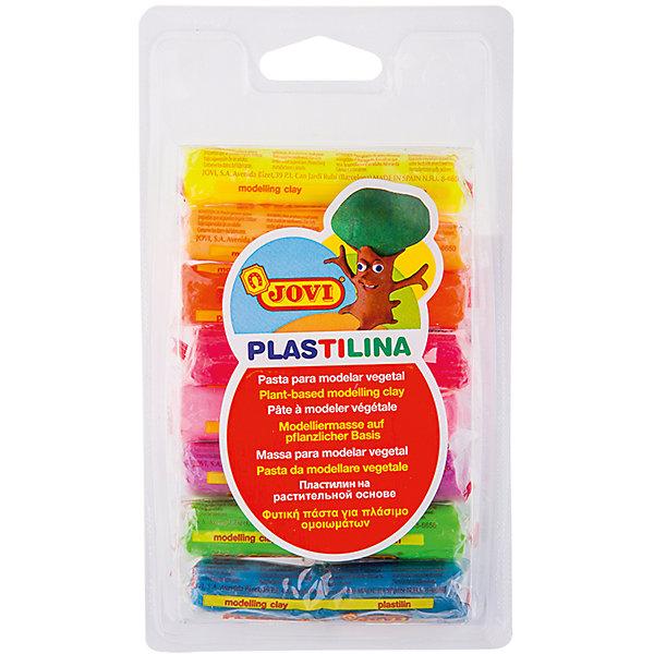 где купить JOVI Пластилин 8 цветов 120г JOVI, флуоресцентный дешево