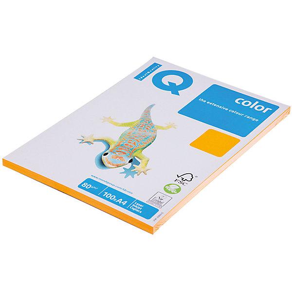 iQ Бумага IQ Color neon А4 100 листов IQ, оранжевый неон высокоэффективный удалитель кутикулы stop cuticle iq beauty